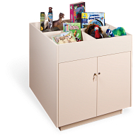 Gaylord Archival® Salina™ Mobile Bin-Top Retail Display Cabinet