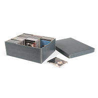 Gaylord® Blue/Grey Shallow Lid Archival CD Box