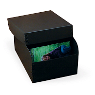 "Gaylord Archival® Black Barrier Board 5 x 7"" Photo Box"