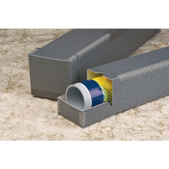 Gaylord Archival® Flip-Top Flip-Bottom Archival Roll Storage Box