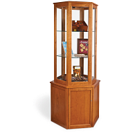 Gaylord® Sedgwick™ Hexagonal Tower Exhibit Case