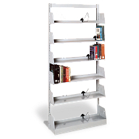 "Gaylord® 84""H Single-Faced Steel Backstop Shelving"