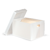 Gaylord Archival® Corrugated Polypropylene Record Storage Carton