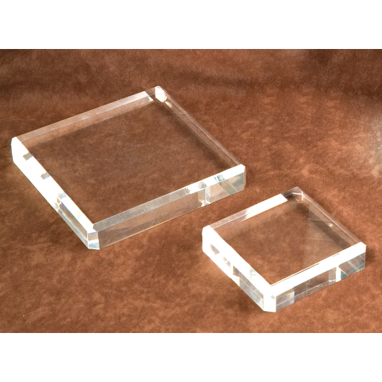 Jule-Art Clear Acrylic Beveled Display Base