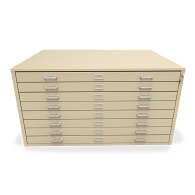 Extra-Large Locking 8-Drawer Horizontal Flat File