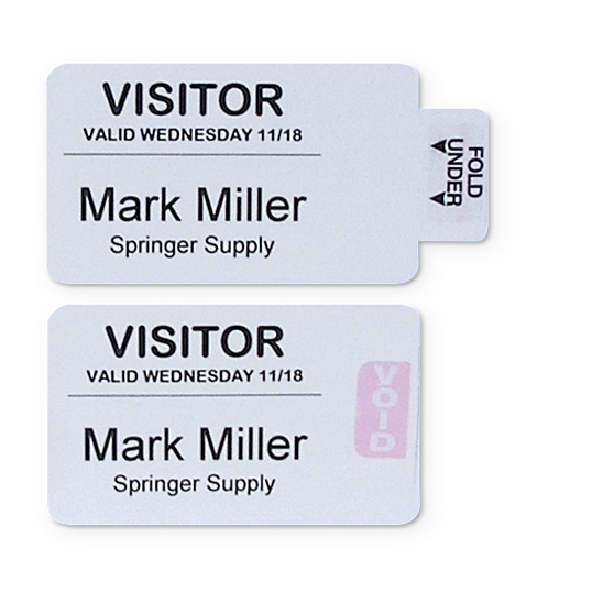 Time's Up!® Self-Expiring Visitor Security Badges (250-Pack)