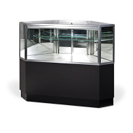 Gaylord® Showcase™ Clipped Corner Retail Display Case