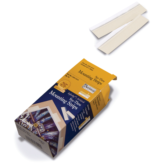 Lineco Polyester See-Thru Mounting Strips (60-Pack)