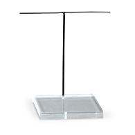 Clear Metal T-Arm Armature Holder