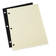 "Gaylord® 9 1/2 x 11"" 3-Hole Punched Archival Mounting Pages (50-Pack)"