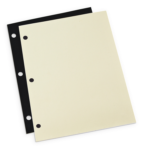 "Gaylord Archival® 9 1/2 x 11"" 3-Hole Punched Archival Mounting Pages (50-Pack)"