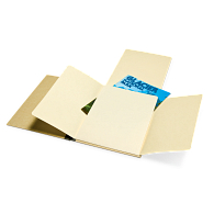 "Gaylord Archival® 1/4"" Stiff Flatback Spine Unbuffered Document Preservation Binders (5-Pack)"