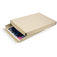 Gaylord® Tan Barrier Board Drop-Front Archival Digital Print Box