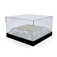 Gaylord Archival® Metro™ Lexington Tabletop Museum Case with Raised Deck & UV Acrylic