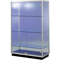 Peter Pepper Products PepperMint® Circular Profile Exhibit Case with Aluminum Top and 2 Doors