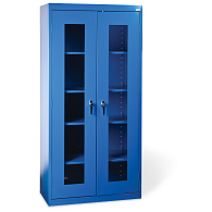 "Sandusky-Lee 78""H Clear View Storage Cabinet"