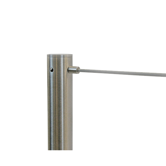 Receiver Post for Dual Retractable Cord Museum Barriers