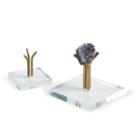 Jule-Art Brass & Acrylic Tri-Pegs Display Base