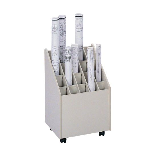 Safco® 20-Compartment Mobile Roll Storage