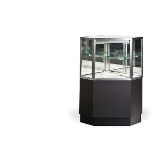 Gaylord Archival® Showcase™ Corner Retail Display Case
