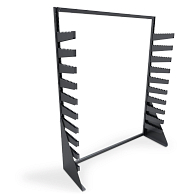 Single-Sided Freestanding Textile Roll Storage Rack