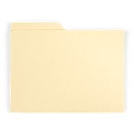 Gaylord Archival® Reinforced Half-Cut Tab Legal Size File Folders (100-Pack)
