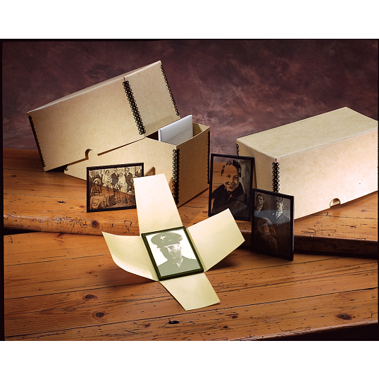 Gaylord Archival® 70 lb. Text Four-Flap Lantern Slide Enclosures (50-Pack)