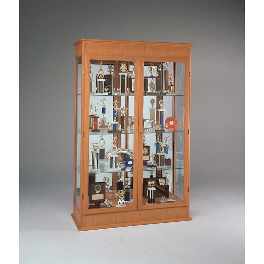 Waddell Varsity Exhibit Case with Mirrored Back & Hinged Doors