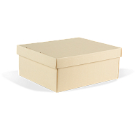 Gaylord Archival® Light Tan B-Flute Shallow Lid Box