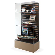 Gaylord® Keynote Wall Exhibit Case with UV Acrylic
