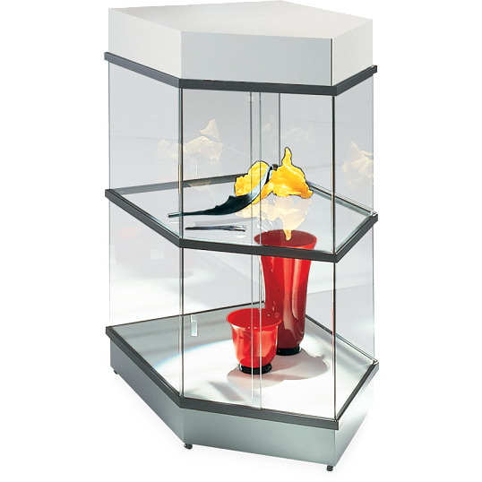 Peter Pepper Products CrystalMint® Modular Two-Tier Pentagon Exhibit Case