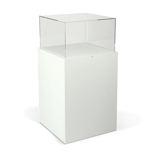 Gaylord Archival® Jewell™ Paintable Square Pedestal Exhibit Case