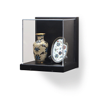 Gaylord® Little Gem Black Wall-Mount Exhibit Case
