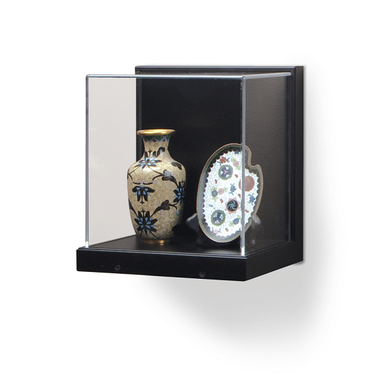 Gaylord Archival® Little Gem Black Wall-Mount Exhibit Case