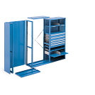 Shown with drawers, shelves and dividers (sold separately).