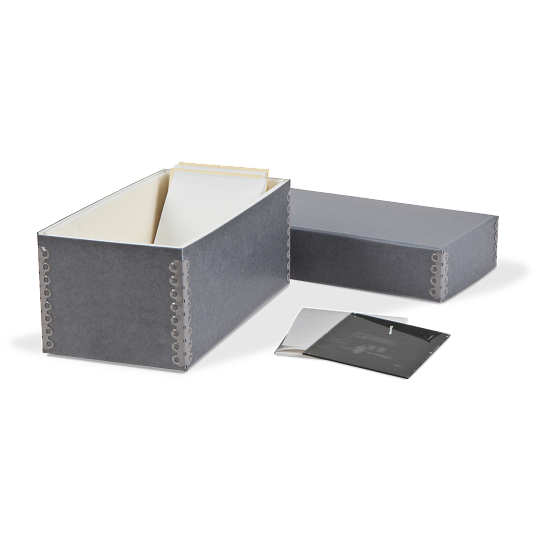 Gaylord® Blue/Grey Barrier Board Archival Glass Negative Storage System
