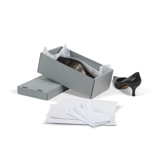Gaylord Archival® E-flute Shallow Board Lid Shoe Preservation Kit