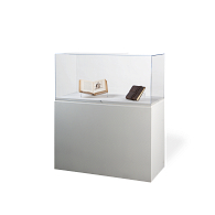 Gaylord® Jewell™ Paintable Rectangular Pedestal Exhibit Case