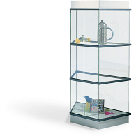 Peter Pepper Products CrystalMint® Modular Three-Tier Trapezoid Exhibit Case