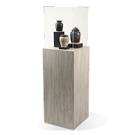 Gaylord Archival® Jewell™ Laminated Square Pedestal Exhibit Case
