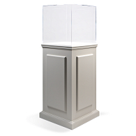 Gaylord® Splendor™ Painted Pedestal Exhibit Case with UV Acrylic