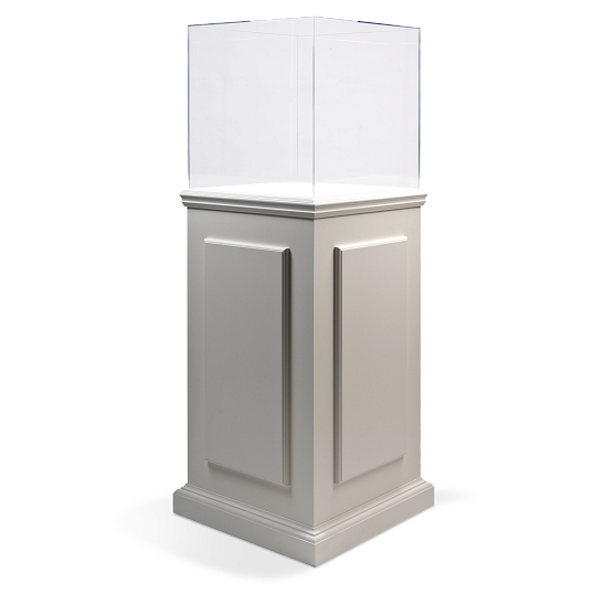 Gaylord Archival® Splendor™ Pride Painted Pedestal Exhibit Case with UV Acrylic