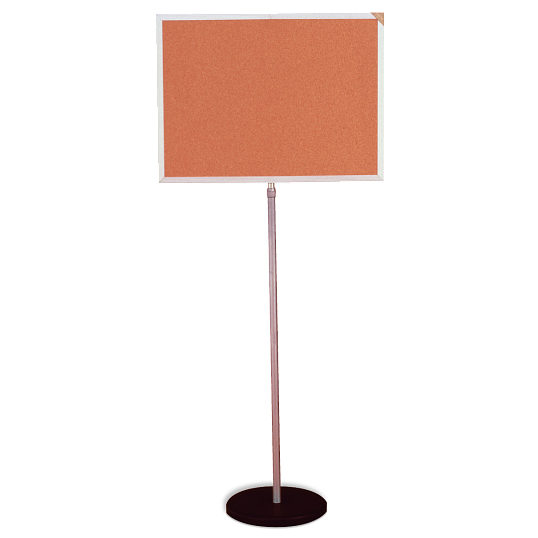 Ghent® Cork Indoor Telescoping Bulletin Board