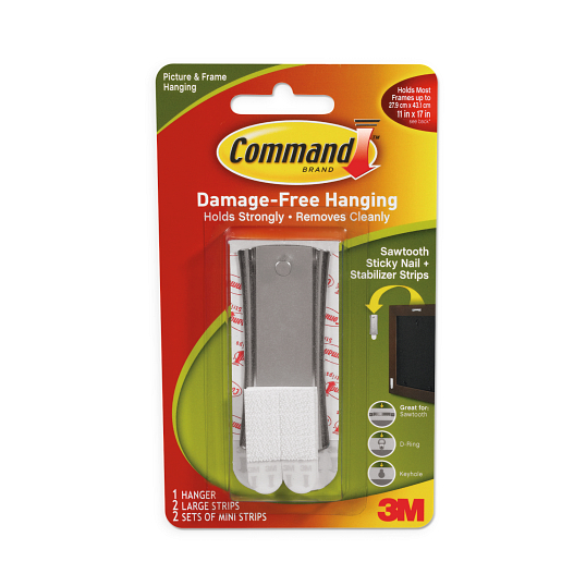 Command™ Sawtooth Sticky Nail Hanger