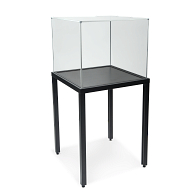 Frank Demountable Table Leg Showcase with UV Acrylic