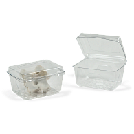 Gaylord Archival® Clear PET Clamshell Flat Lid Archival Boxes (125-Pack)