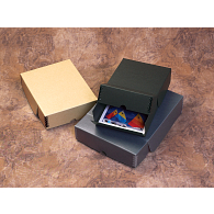 Gaylord Archival® Blue/Grey Drop-Front Flip-Top Print Box