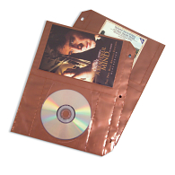 Copper Guard™ Polypropylene DVD Storage Pages (5-Pack)