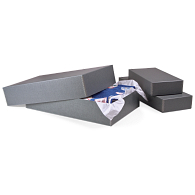 Gaylord Archival® Blue/Grey Barrier Board Textile & Costume Box