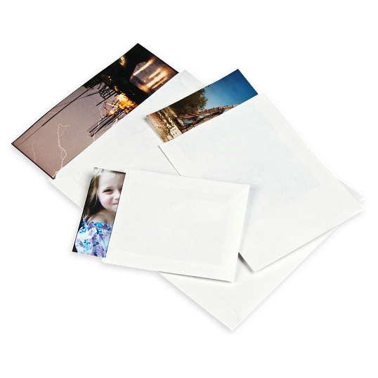 Gaylord Archival® 80 lb. Text Unbuffered Negative & Print Envelopes without Thumb-Cuts (100-Pack)